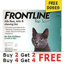 Frontline Top Spot In 2020 Spotted Cat Flea Treatment Fleas