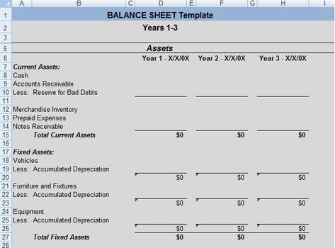 Get Professional Balance Sheet Template ExcelTemple Excel - inventory management template