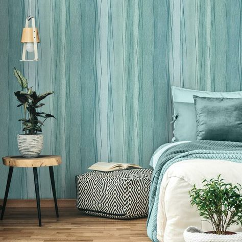 Making Waves Peel And Stick Wallpaper Room Visualizer Roommate Decor Dorm Furniture