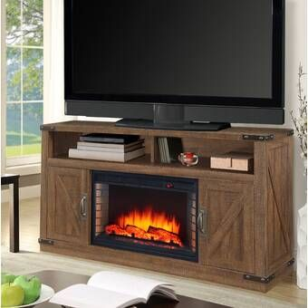 Gracie Oaks Magnus Tv Stand For Tvs Up To 55 Reviews Wayfair Solid Wood Tv Stand Electric Fireplace Living