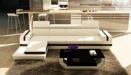Vgev Sp 5099b Divani Casa 5099b Modern Bonded Leather Sectional