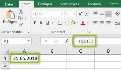Excel Heute Funktion Excel Tipps Excel Tabelle Erstellen Buroorganisation Tipps