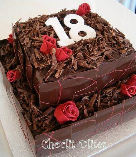 Robyns Th Birthday Cake By Choclit Dlites Via Flickr Cakes - Happy birthday 18 cake