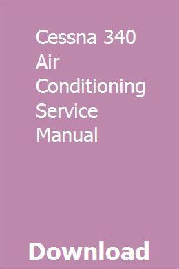 CESSNA AIRCRAFT AIR CONDITIONING SERVICE MANUAL