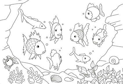 ausmalbilder der regenbogenfisch | kinder ausmalbilder