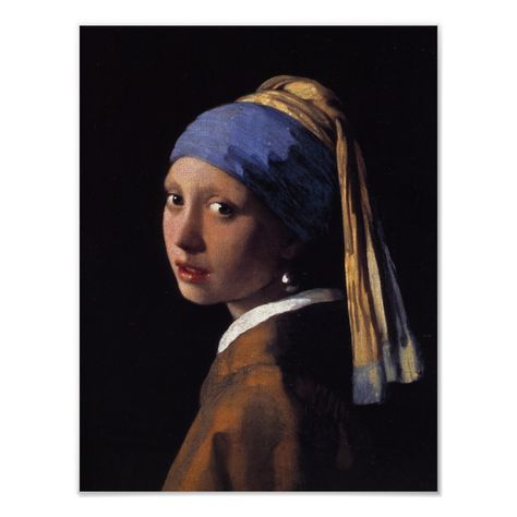 Girl With A Pearl Earring Poster Custom Posters Design Your