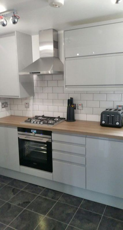 Super Kitchen Wall Tiles Brick 64 Ideas White Modern Kitchen Modern Kitchen Cabinets Grey Gloss Kitchen
