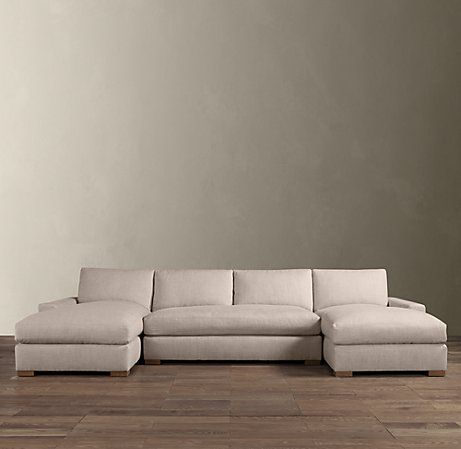 Maxwell Upholstered U Chaise Sectional Double Chaise Sectional