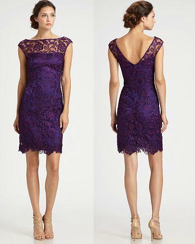 Lace dress in purple