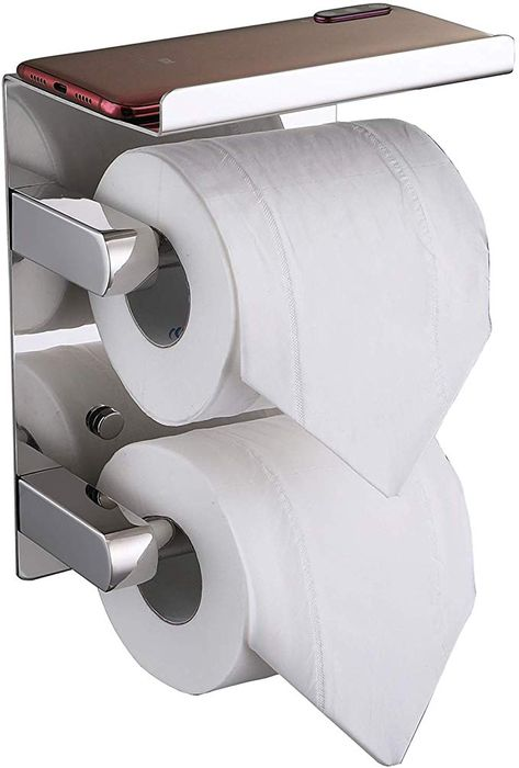 Amazon Com Fanhao Upgrade Double Roll Toilet Paper Holder Chrome
