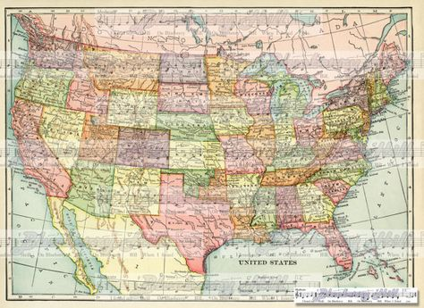 United States Old map ,Vintage Map 1906,USA, Canada, Asia ... on technology usa map, 5th grade usa map, montessori usa map, military usa map, 2nd grade usa map, game of thrones usa map, teaching usa map, sports usa map,