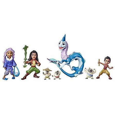 Disney's Raya and The Last Dragon Kumandra Story Set, 7 Dolls and Doll Accessories, Raya, Sisu Human, Ongis, Boun, and Sisu, Toy for Kids - Default