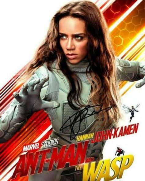 Ant Man and the Wasp Ghost Hannah John-Kamen Movie Cast Signed Photo Autograph Reprint Poster