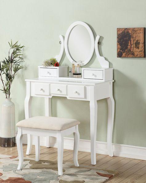 Pleasing Amazon Com 3 Piece Wood Make Up Mirror Vanity Dresser Table Spiritservingveterans Wood Chair Design Ideas Spiritservingveteransorg