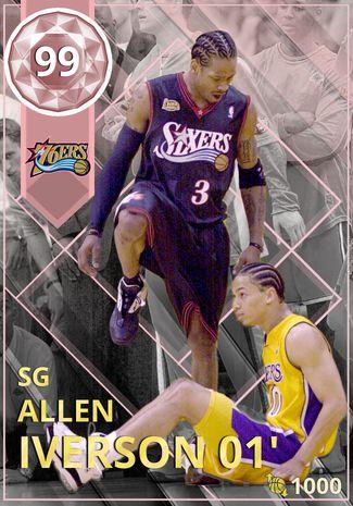 2) Allen Iverson 01' - NBA 2K18 Custom Card - 2KMTCentral