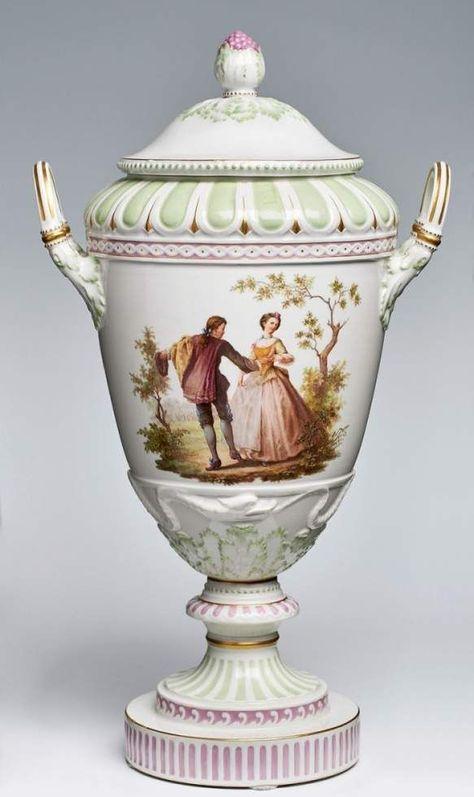 Deckelvase Sog Weimar Vase Kpm Berlin 1914 18 Amphore M