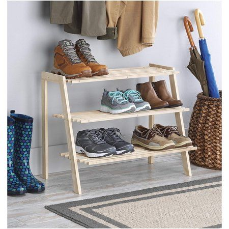 Shoe Racks Home Whitmor 4 Tier Shoe Rack Gray