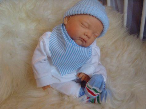 Free Shipping CUTE Blue Eyed Boy BJLS Realistic Childs 1st Reborn Baby Doll Girls Special Birthday Xmas Gift Uk Artist Saxon Reborns