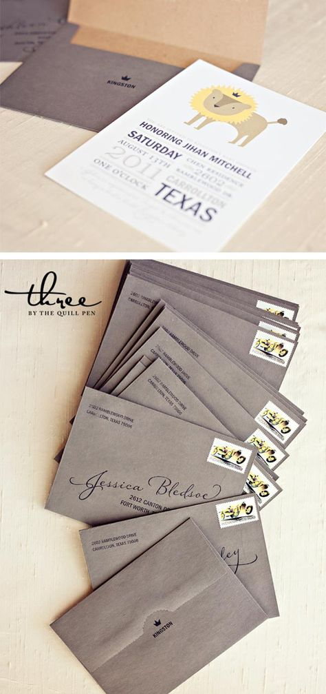 Such a creative way to print names on invitations