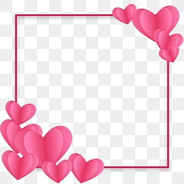 Love Frame Pink Frame With Heart Vector Valentine Frame Love Png Transparent Clipart Image And Psd File For Free Download Valentines Day Border Valentines Day Clipart Valentines Frames