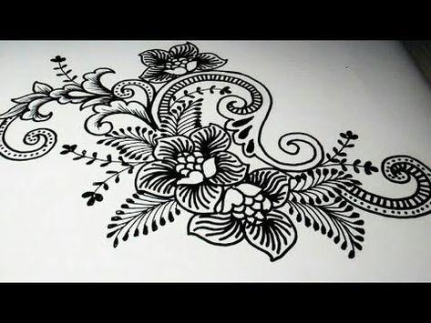 Sketsa Batik Penelusuran Google Henna Tangan Lukisan Bunga Tato Suku