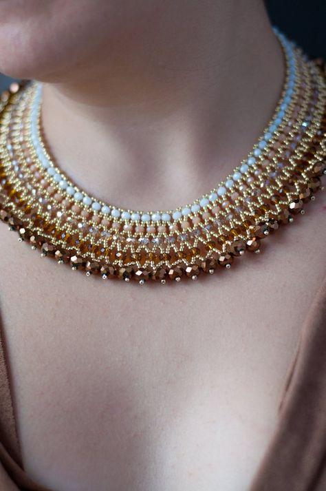 Crystal Necklace - Her Crochet - bestunited