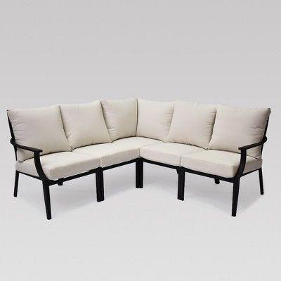 Fairmont 5pc Patio Sectional Linen Threshold Target Furniture Patio Furniture Sets Sofa Set