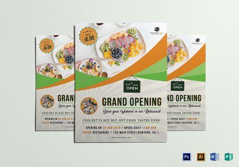 Restaurant Grand Opening Flyer Design Flyer Templates - grand opening flyer