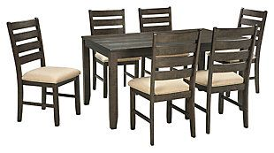 Rokane Dining Room Table And Chairs Set Of 7 Large Dining