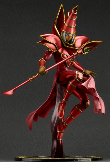 Red Dark Magician Model By Vikon D9fibey Png 380 556 The Magicians Anime Figurines Anime Figures