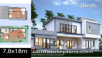 House Plans Idea 7x11 M With 4 Bedrooms Sam House Plans In 2020 Model House Plan House Plans Modern House Plans