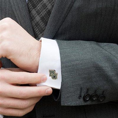 Baylor Bears BU Cufflinks // To add a little #SicEm to the groom and groomsmen.
