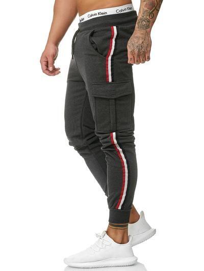 Cargo Dusi Stripe Sweatpants Joggers Dark Gray X1B