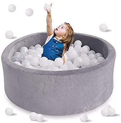 Ball Pits Accessories LANGXUN Light Grey Pit Ball Kiddie Pools Indoor Playpen for Baby or Toddler Ball Pit Upgrade Kids Ball Pit Playpen for Baby Kids Children Kiddie Pool