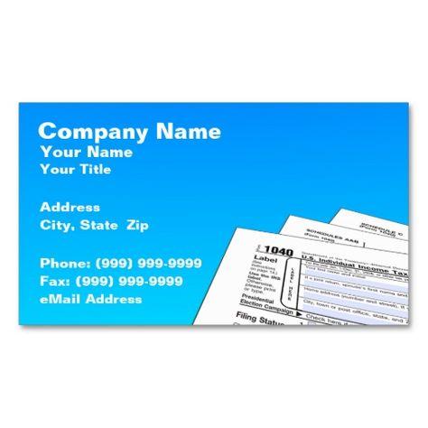 Tax Preparer Federal Tax Form Business Card Business cards and - federal tax form