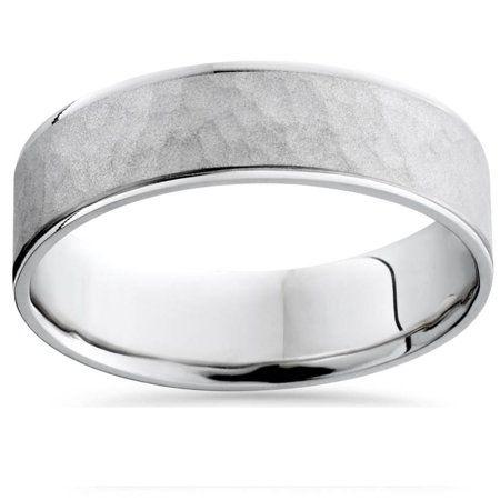 Pompeii3 6mm Mens Argentium Silver Hammered Wedding Band Walmart Com Mens Wedding Rings Hammered Wedding Bands Hammered Wedding Rings