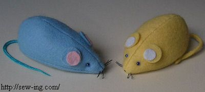 Mouse pincushion or cat toy - pattern