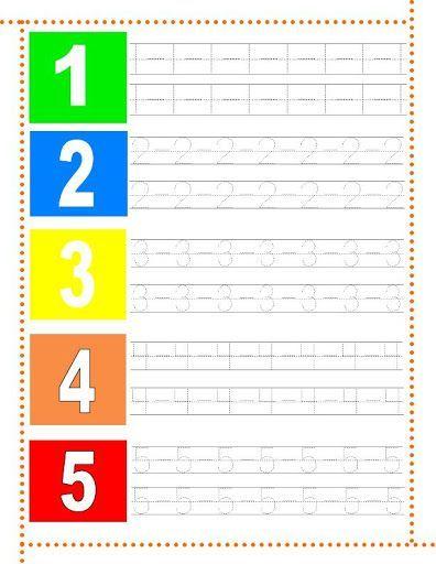 Fichas De Caligrafía De Los Números Del 1 Al 30 Para Trabajar Con Niños De Preescolar Caligrafia Numeros Actividades De Letras Hojas De Trabajo De Matemáticas