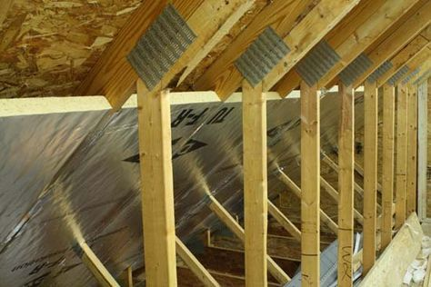 Cathedral Ceiling Insulated With Foil Faced Foam Board Foam Attic Insulation Ceiling Insulation Cathedral Ceiling