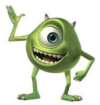 Mike Wazowski Cizgi Film Disney Karakterleri Sevimli Canavarlar