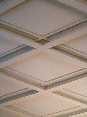 criss cross ceiling detail.