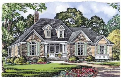 Charmant Plan 48033FM: Petite French Cottage | French Country House Plans, French  Country House And Country Houses