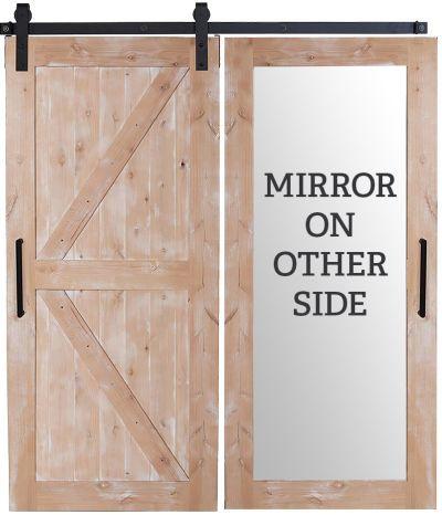 Herringbone Barn Door Rustica In 2020 Mirror Barn Door Barn Door Barn