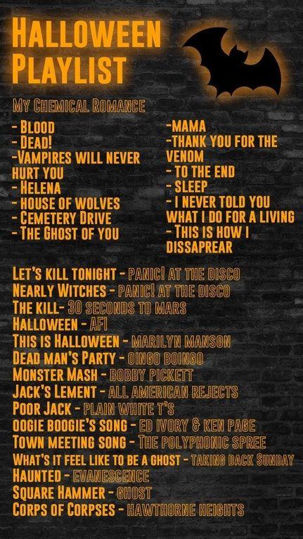 Emo Halloween Halloween Playlist Halloween Music Halloween Songs