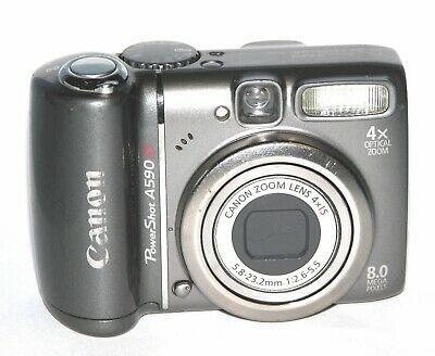Canon Powershot A590 Is 8 0mp Digital Camera Gray 6611 Digital Camera Camera Powershot
