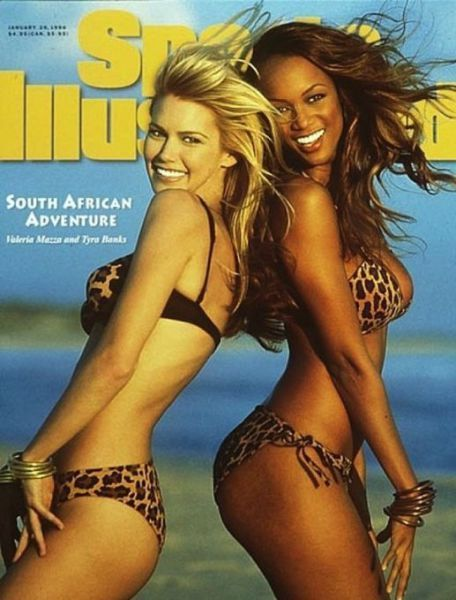 Valeria Mazza and Tyra Banks for Sports Illustrated, 1996. A