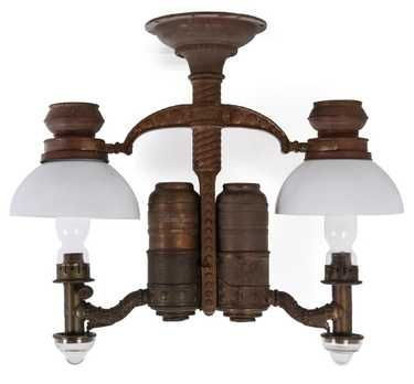 A Circa 1890 Adams Westlake Company Acme Burner Chandelier No 191 Two Oil Lamp Lights With Glass Drip Cups Milk Glass Lamp Light Kerosene Lamp Oil Lamps