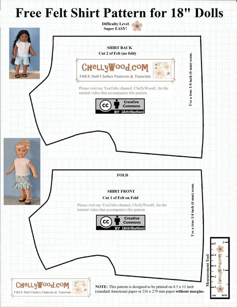 the image shows a free printable sewing pattern for a very basic easy to