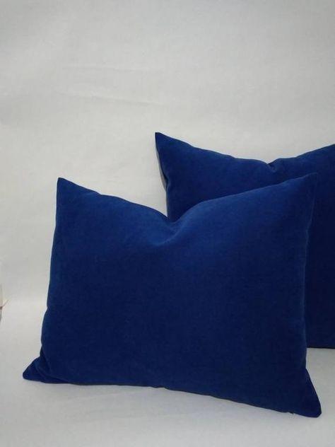 Pillow Cover Cobalt Royal Blue Green