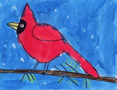 Art Projects for Kids: Caedmon's Cardinal